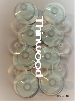 Thinwood Befestigungsset für Bassdrum Pads mit Saugnäpfen/Klebepads für glatte und aufgeraute Felle