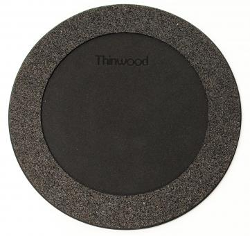 Thinwood Übungspad 12'' mit Vlies u. V-Ring(black)