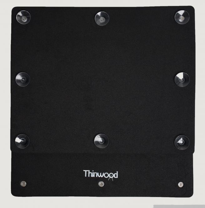Thinwood Übungspad Bassdrum Pad mit Saugnäpfen für glatte Felle