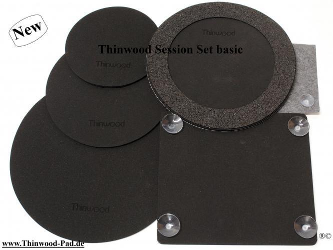 """Thinwood Session Set Basic  8""""/10""""/13""""/12""""SD//14-16""""BD mit Saugnäpfen/Klebepads für glatte und aufgeraute Felle"""