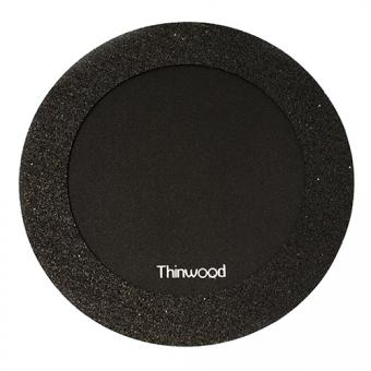 Thinwood Übungspad 14'' mit Vlies u. V-Ring(black)